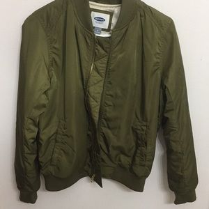 Jackets & Blazers - Olive bomber jacket from old navy